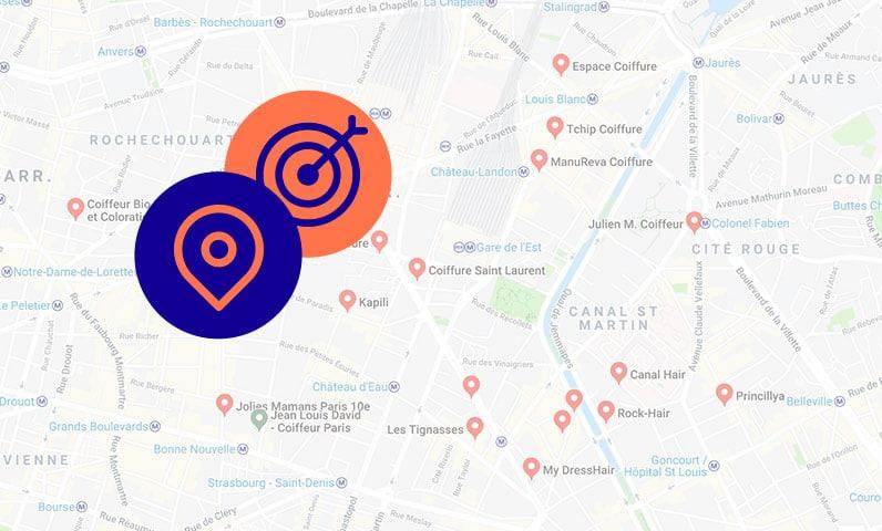 maps google salons coiffure Kiute Pro