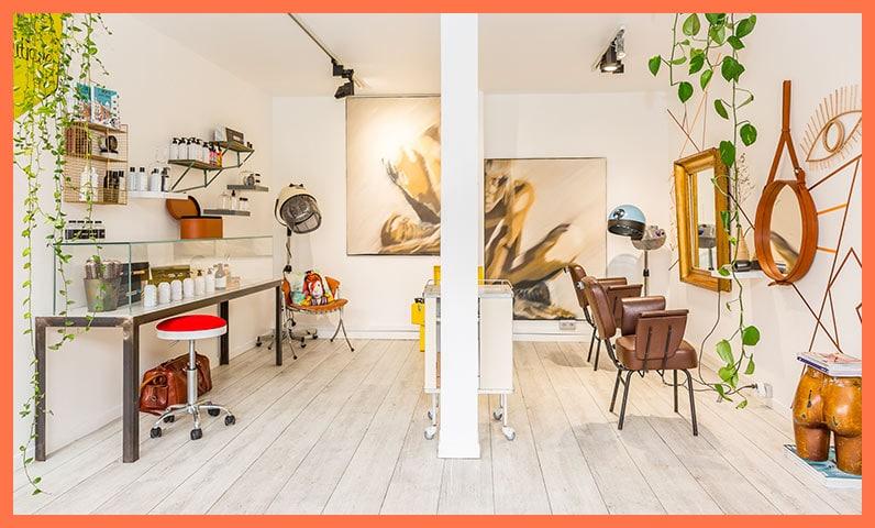 décoration salon de coiffure Kiute Pro