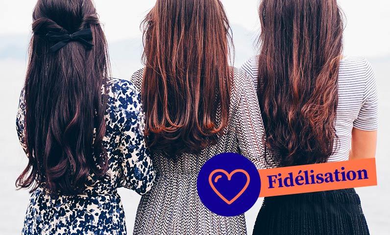 femmes filles cheveux longs Kiute Pro