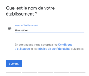 nom etablissement google my business kiute reservation en ligne