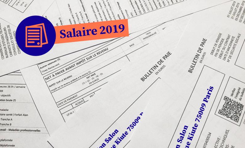 fiche de paie salaire coiffeur 2019