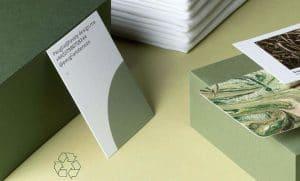Carte de visite en coton, papier 100% recyclé par Moo kiute reservation en ligne