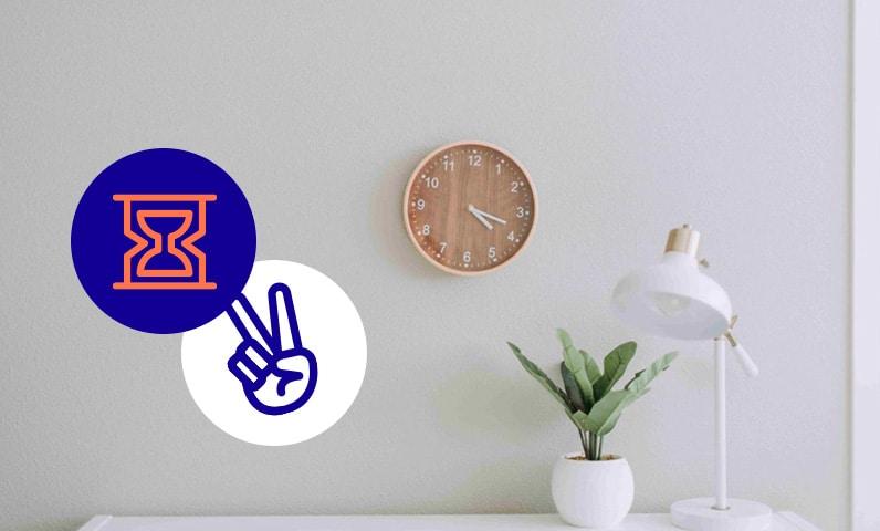 horloge bureau temps Kiute Pro