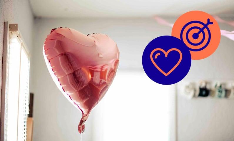 balon coeur saint Valentin Kiute Pro