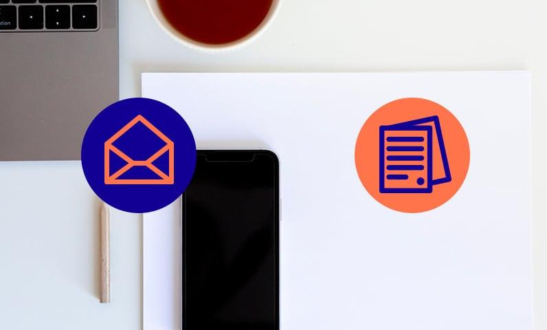 téléphone ordinateur papier flyer Kiute Pro