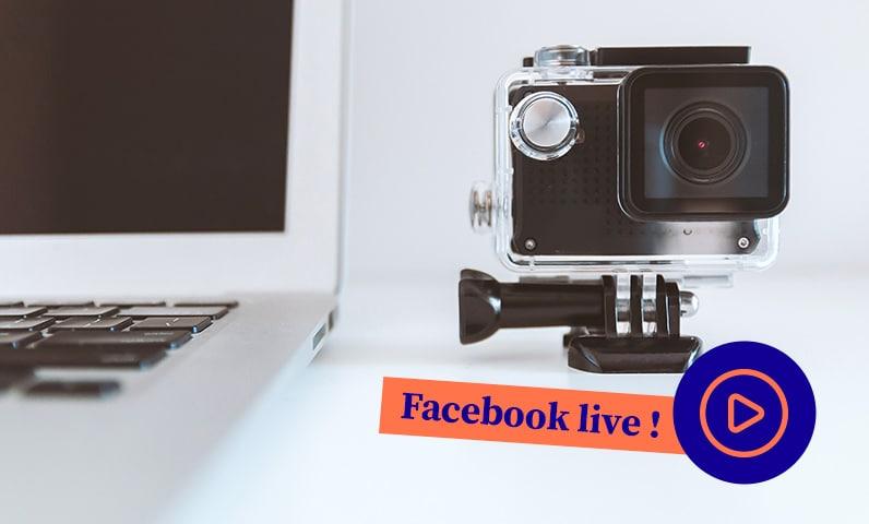 camera ordinateur Facebook Live Kiute Pro