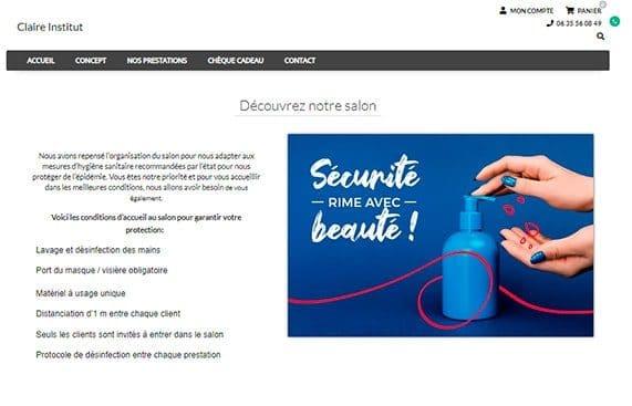 annonce hygiene covid 19 kiute reservation en ligne