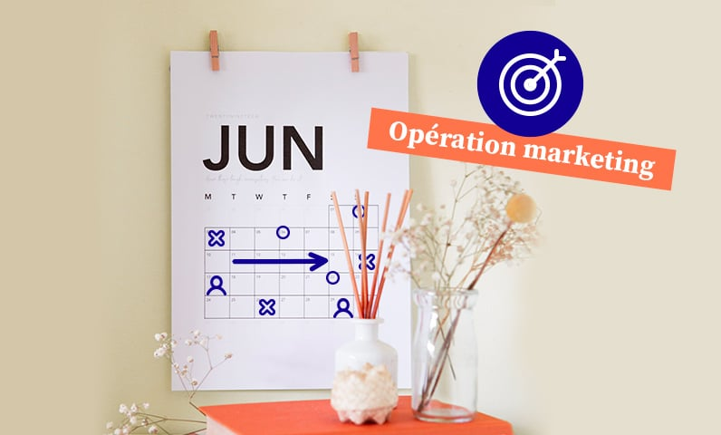 Calendrier opération marketing Kiute