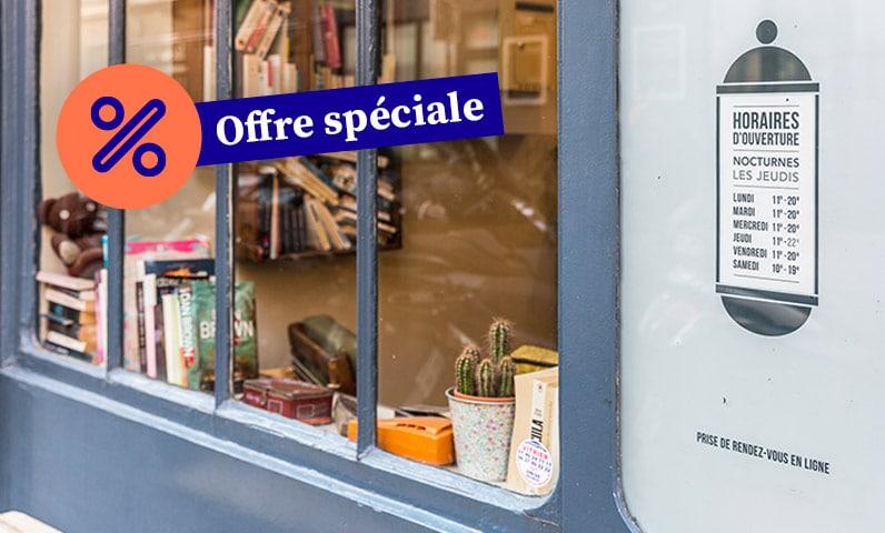 vitrine salon promotion offre spéciale kiute