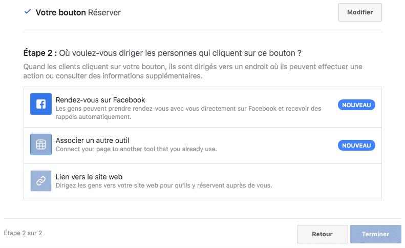 bouton reserver facebook kiute reservation en ligne