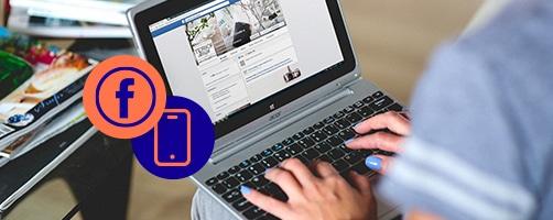 femme ordinateur Facebook ebook