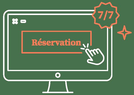 réservation en ligne Kiute Pro