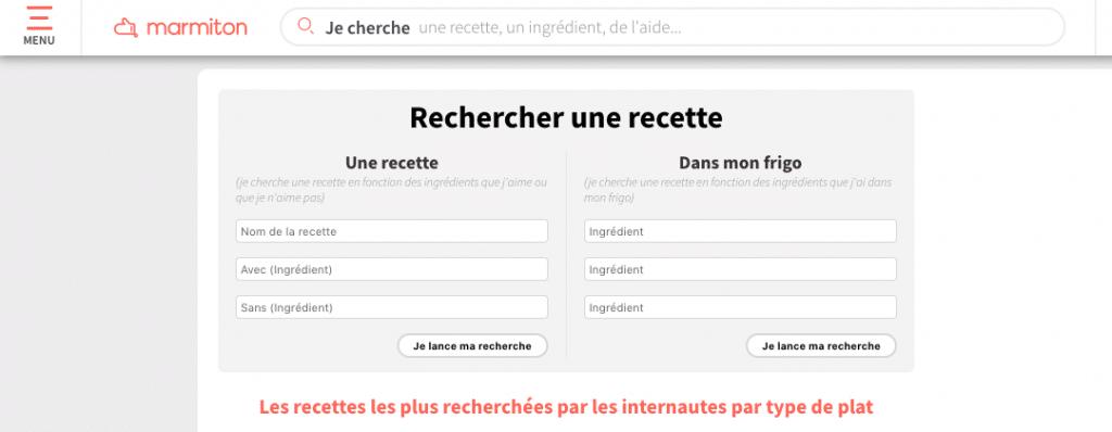 recherche recette marmiton kiute reservation en ligne